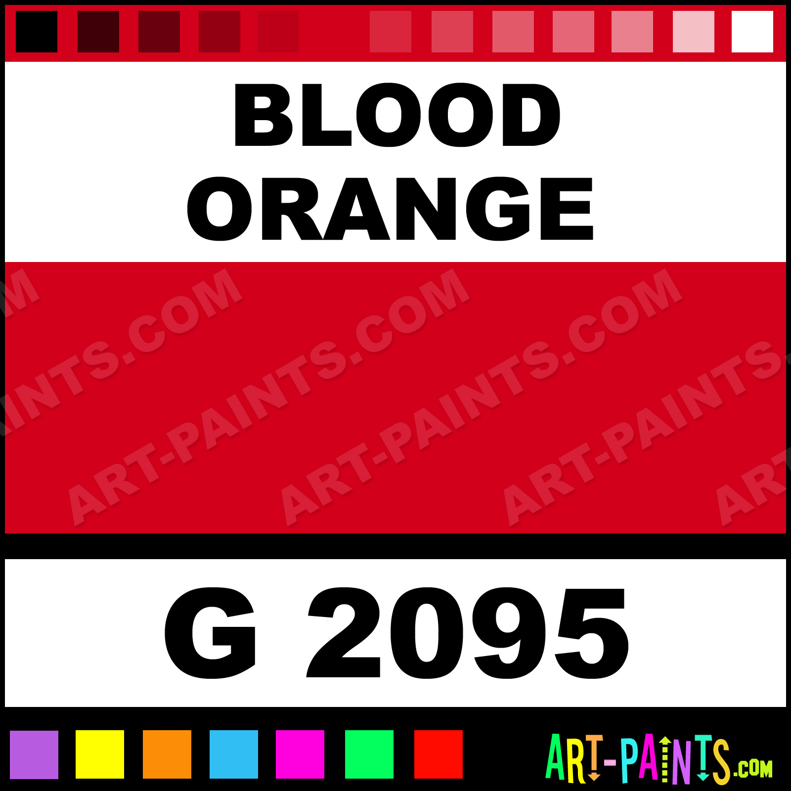 Blood Orange Gold Line Spray Paints G 2095 Blood