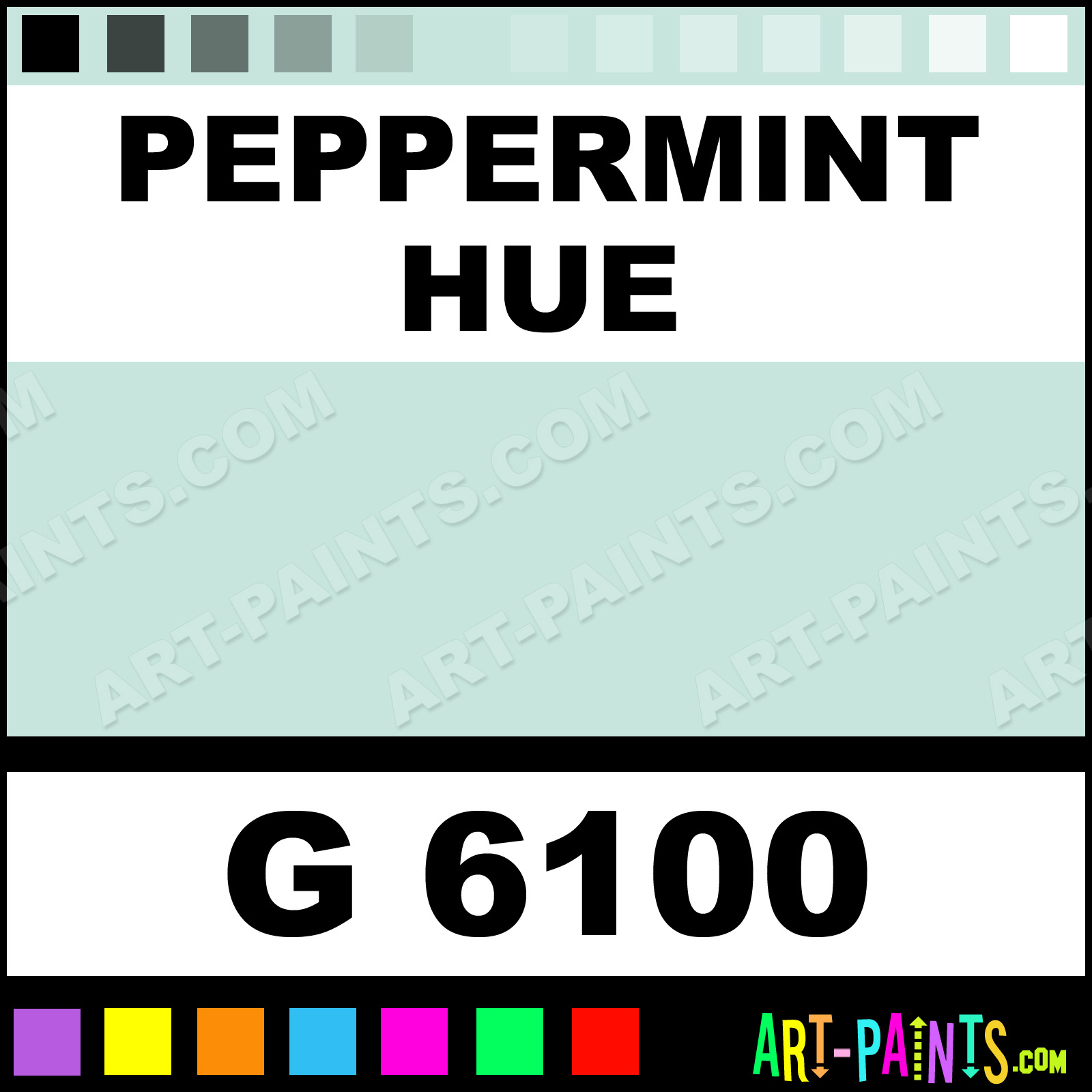 Peppermint Gold Line Spray Paints G 6100 Peppermint Paint