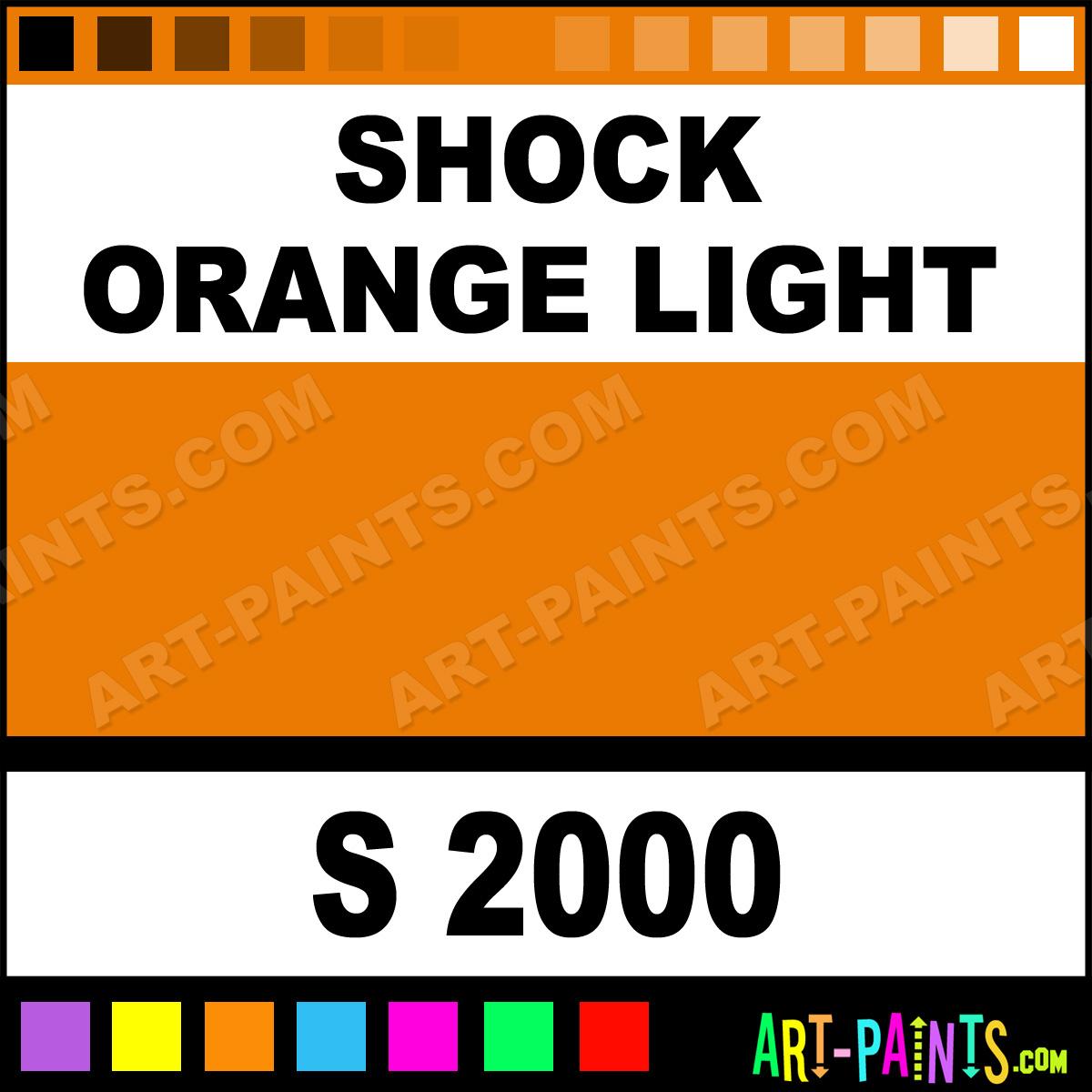 Shock Orange Light Gold Line Spray Paints S 2000 Shock