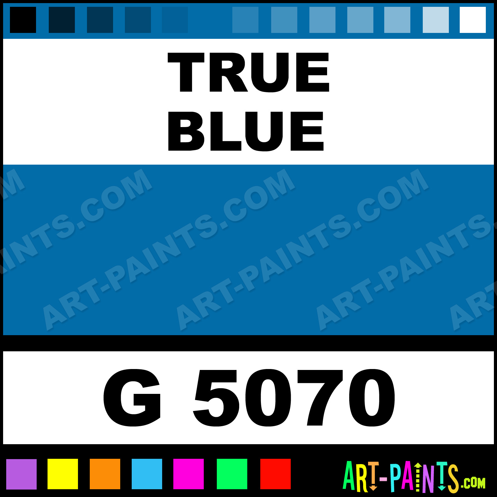 True Blue Gold Line Spray Paints G 5070 True Blue Paint True