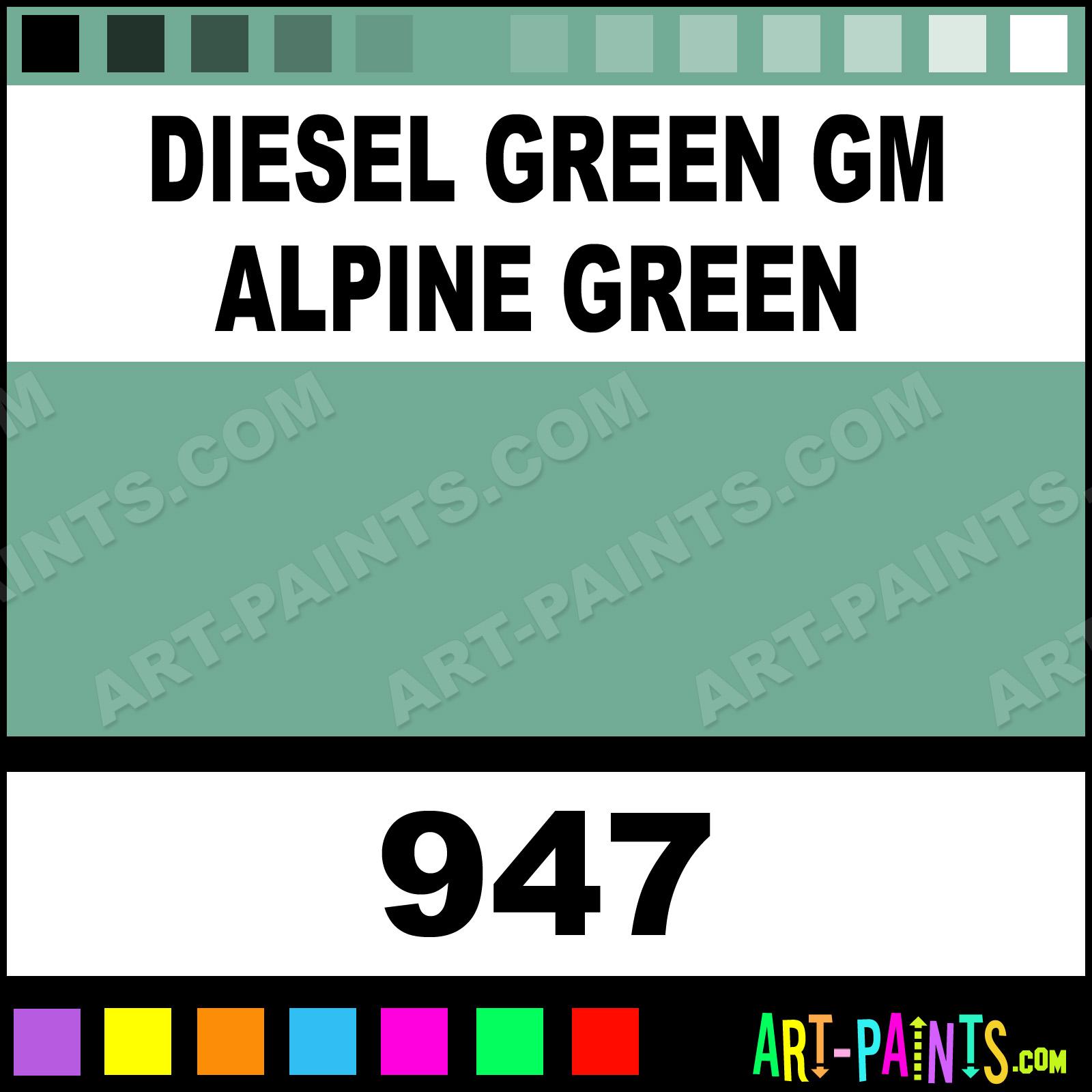 Diesel green gm alpine green