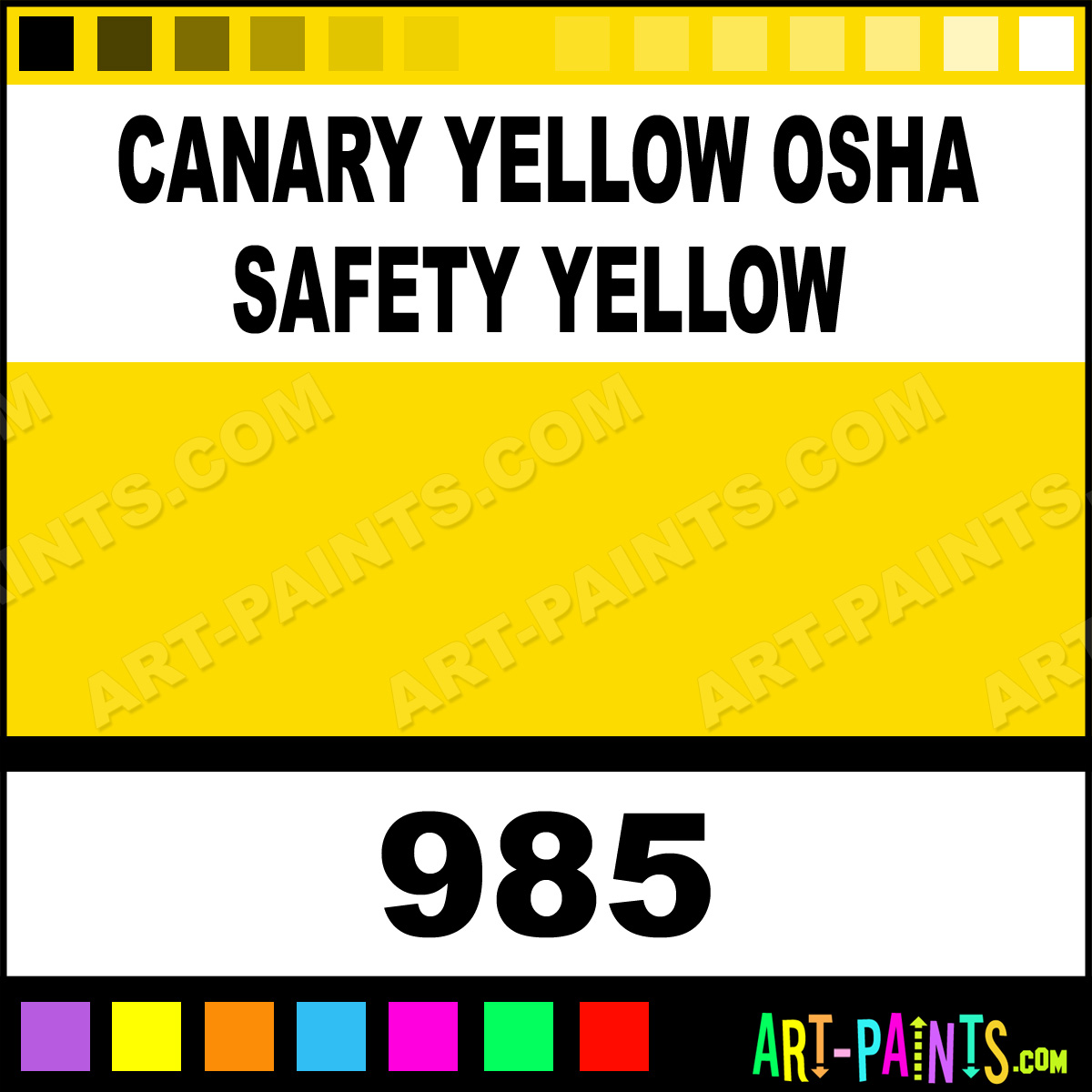Safety Yellow Paint Safety Yellow Paint 985 by
