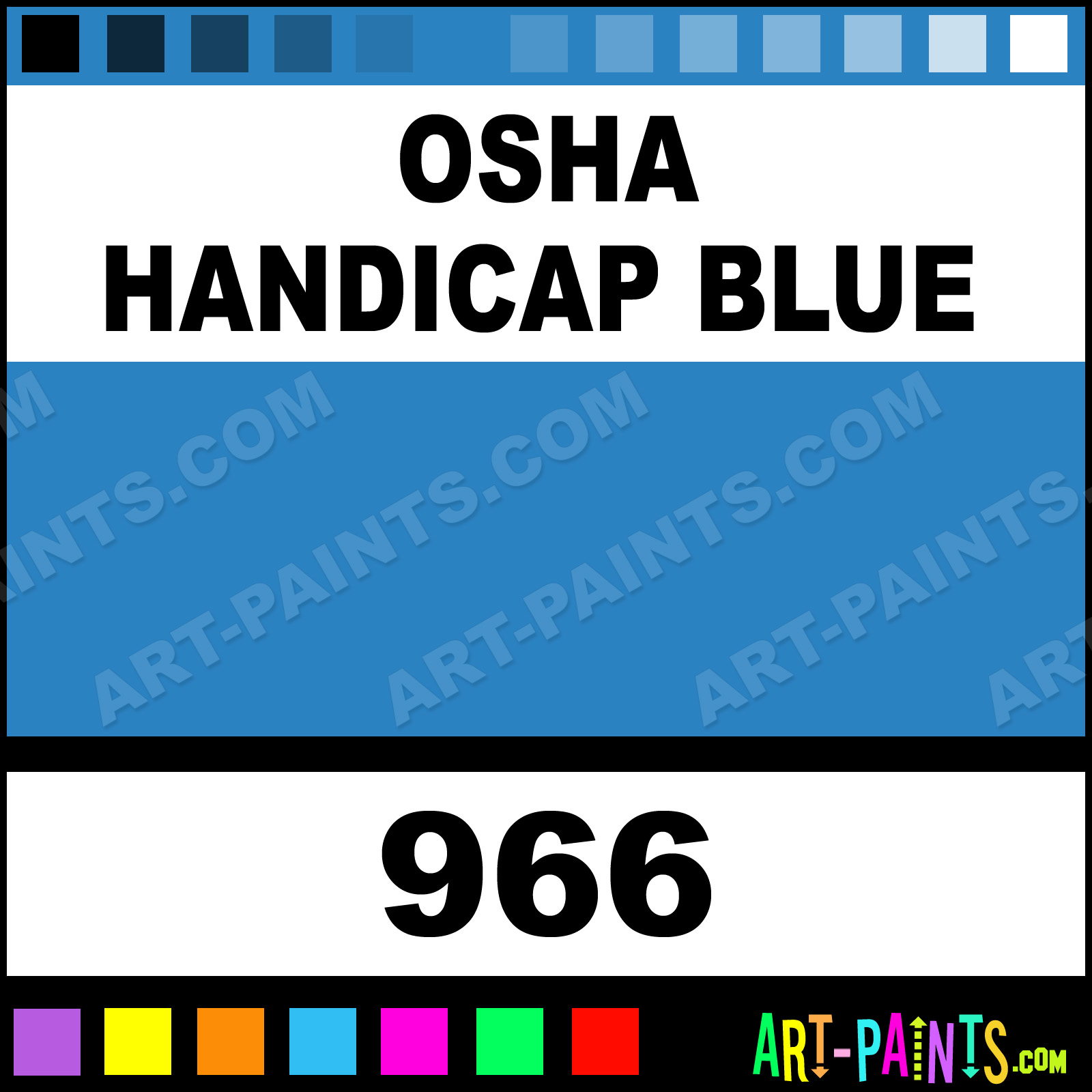 True Blue Paint Color Osha Handicap Blue Heavy Duty Auto Spray Paints 966 Osha