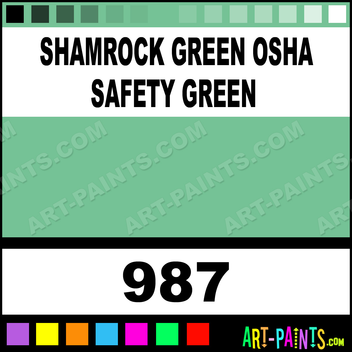 Safety Green Paint Safety Green Paint 987 by