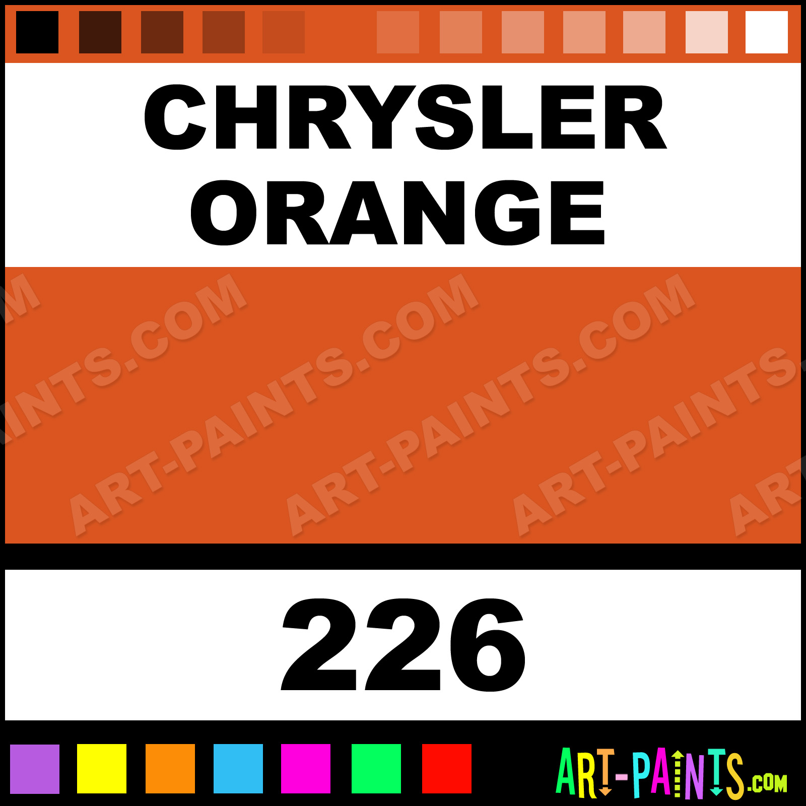 Chrysler orange 226