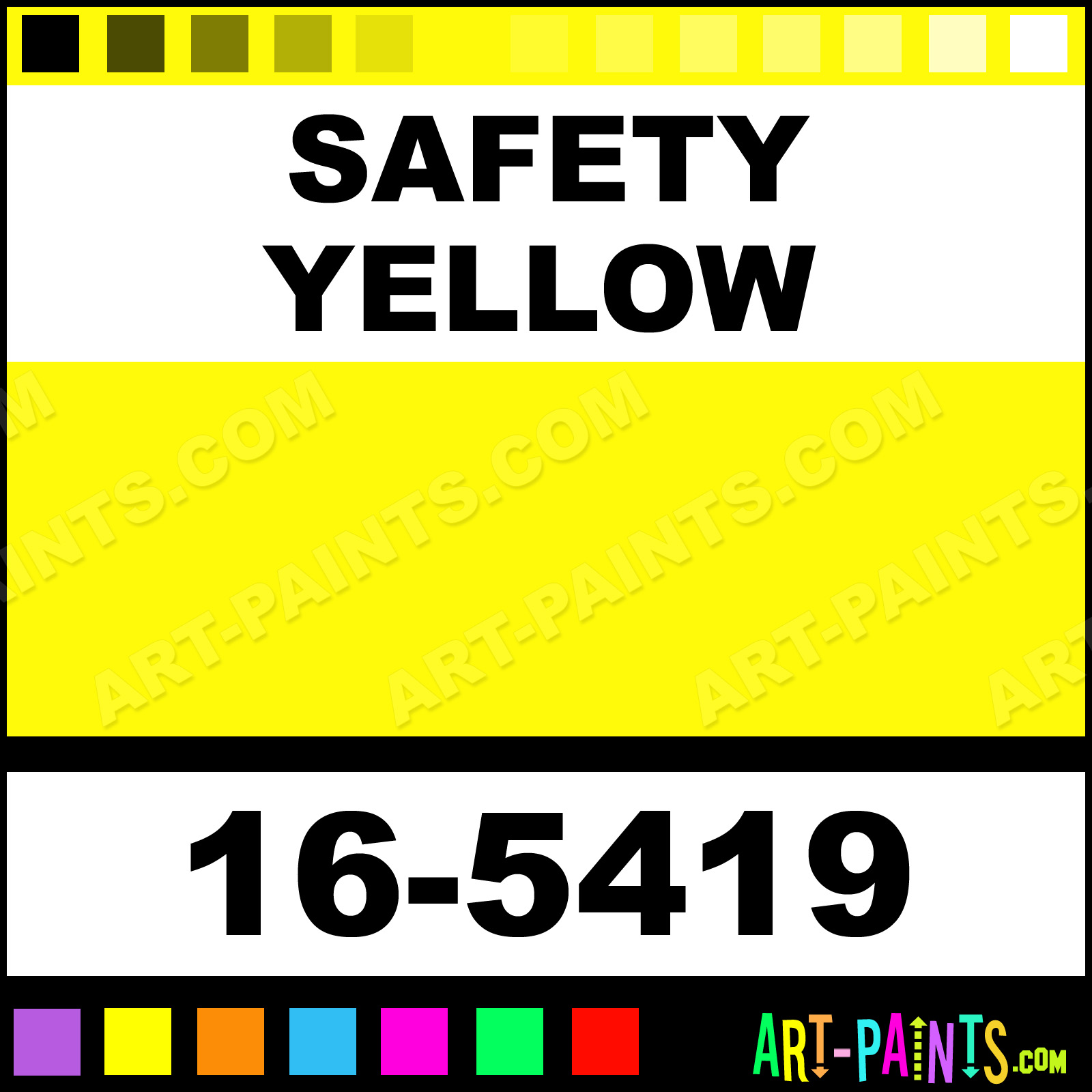 Safety Yellow Paint Safety Yellow Color Code