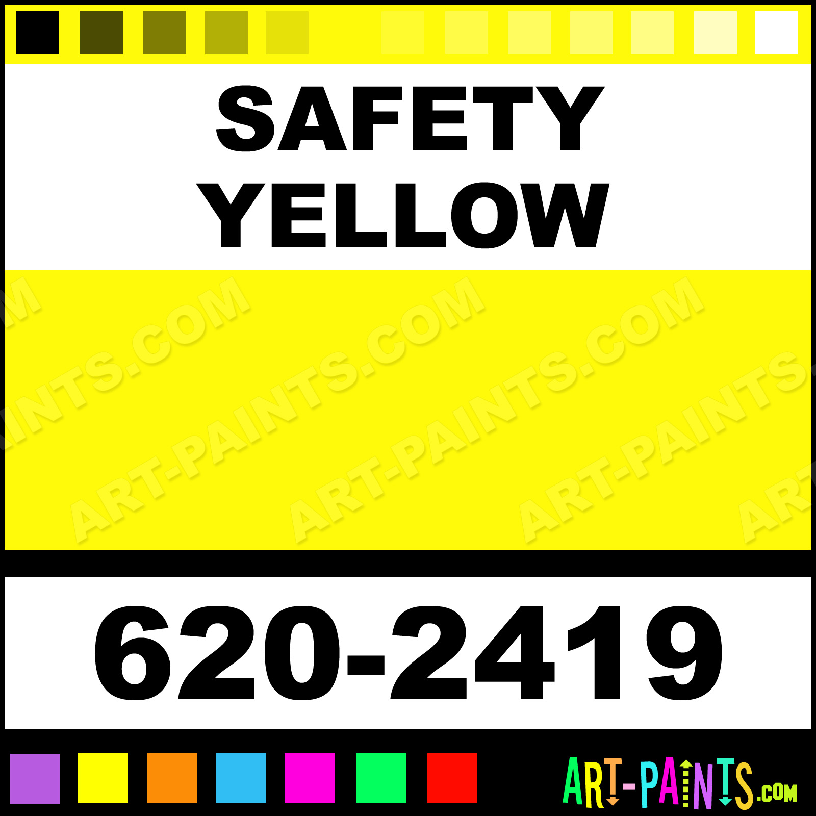 Safety yellow mro spray paints 620 2419 safety yellow for Spray paint safety