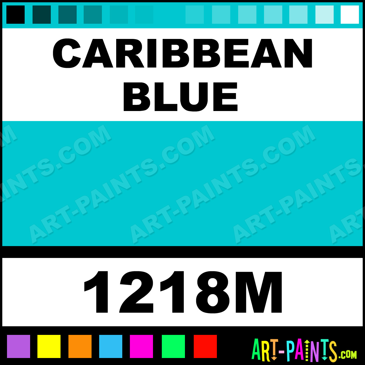 Caribbean Blue Paint