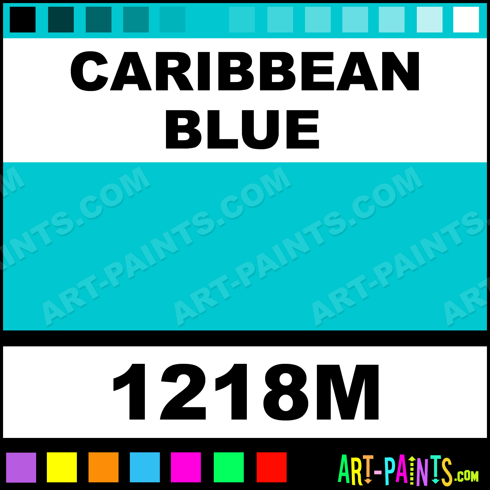 Caribbean Blue Paint