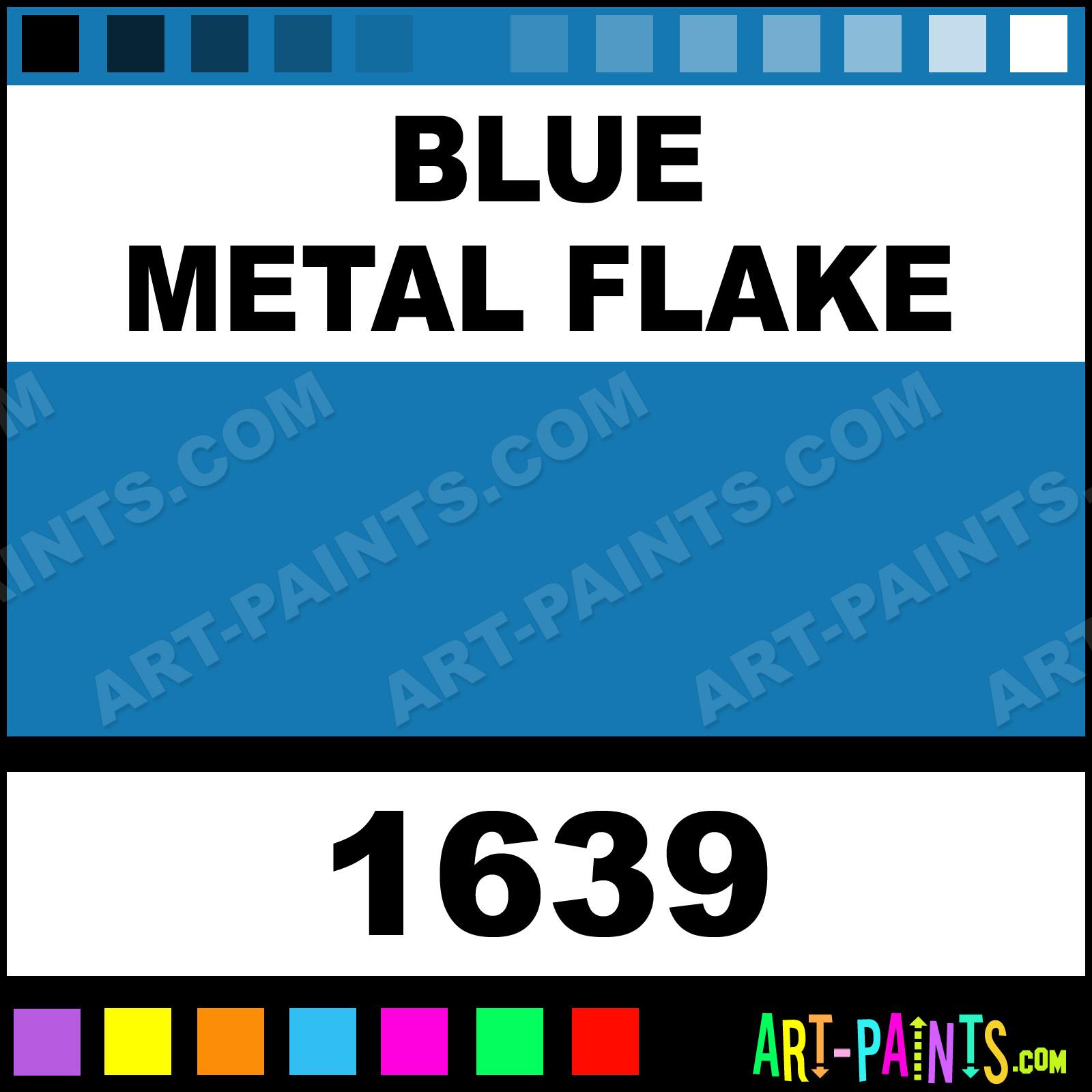 Blue Metal Flake Enamel Spray Paints - Aerosol Decorative