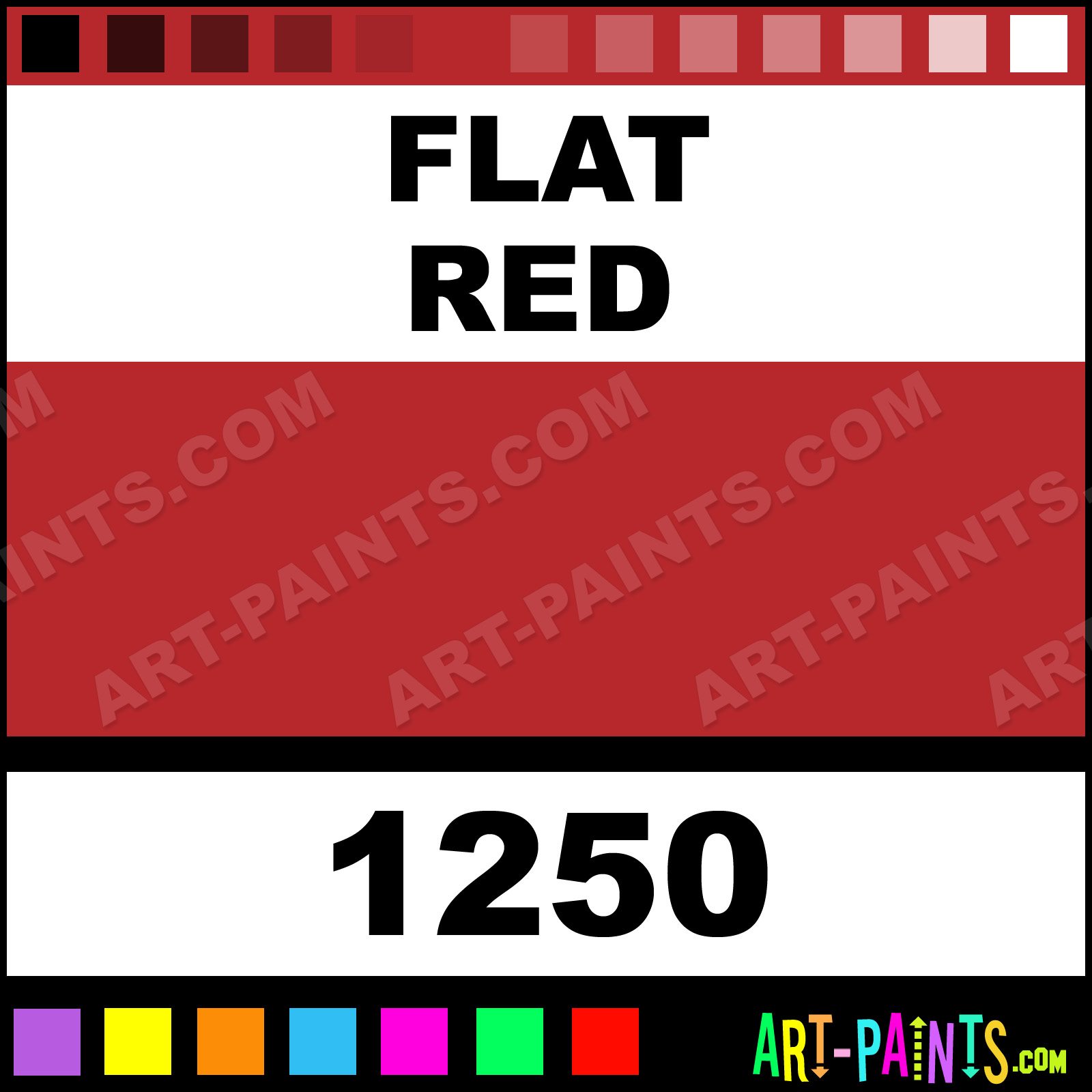 Flat Red Enamel Spray Paints Aerosol Decorative Paints 1250