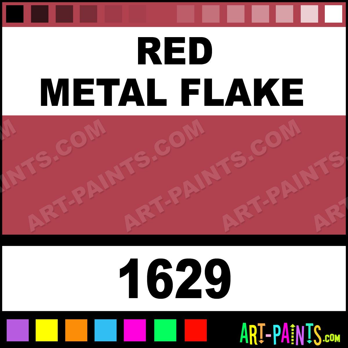 Red Metal Flake Enamel Spray Paints Aerosol Decorative Paints 1629 Red Metal Flake Paint