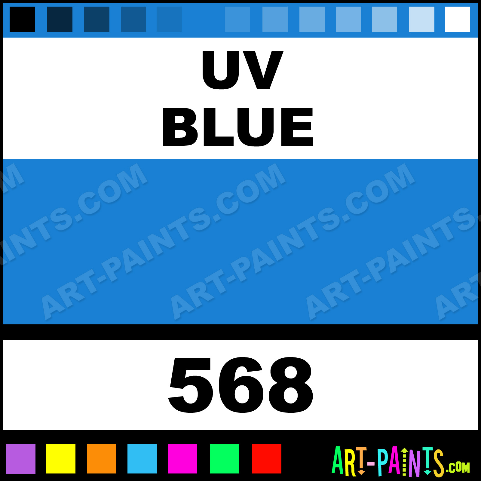 UV Blue Paint