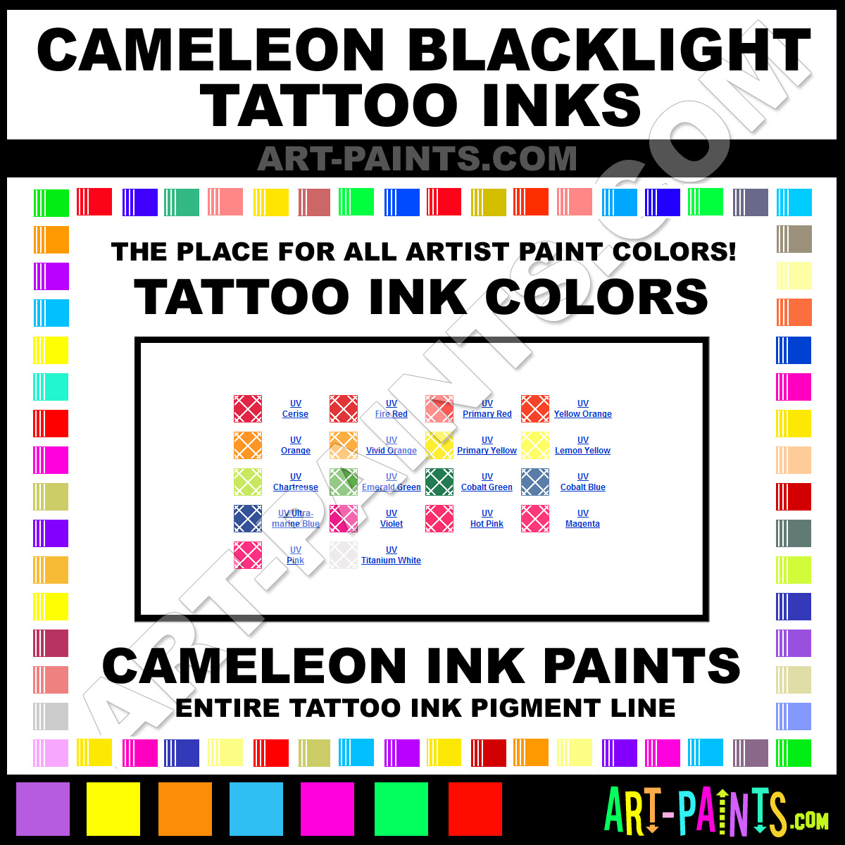 Cameleon Blacklight Tattoo Ink