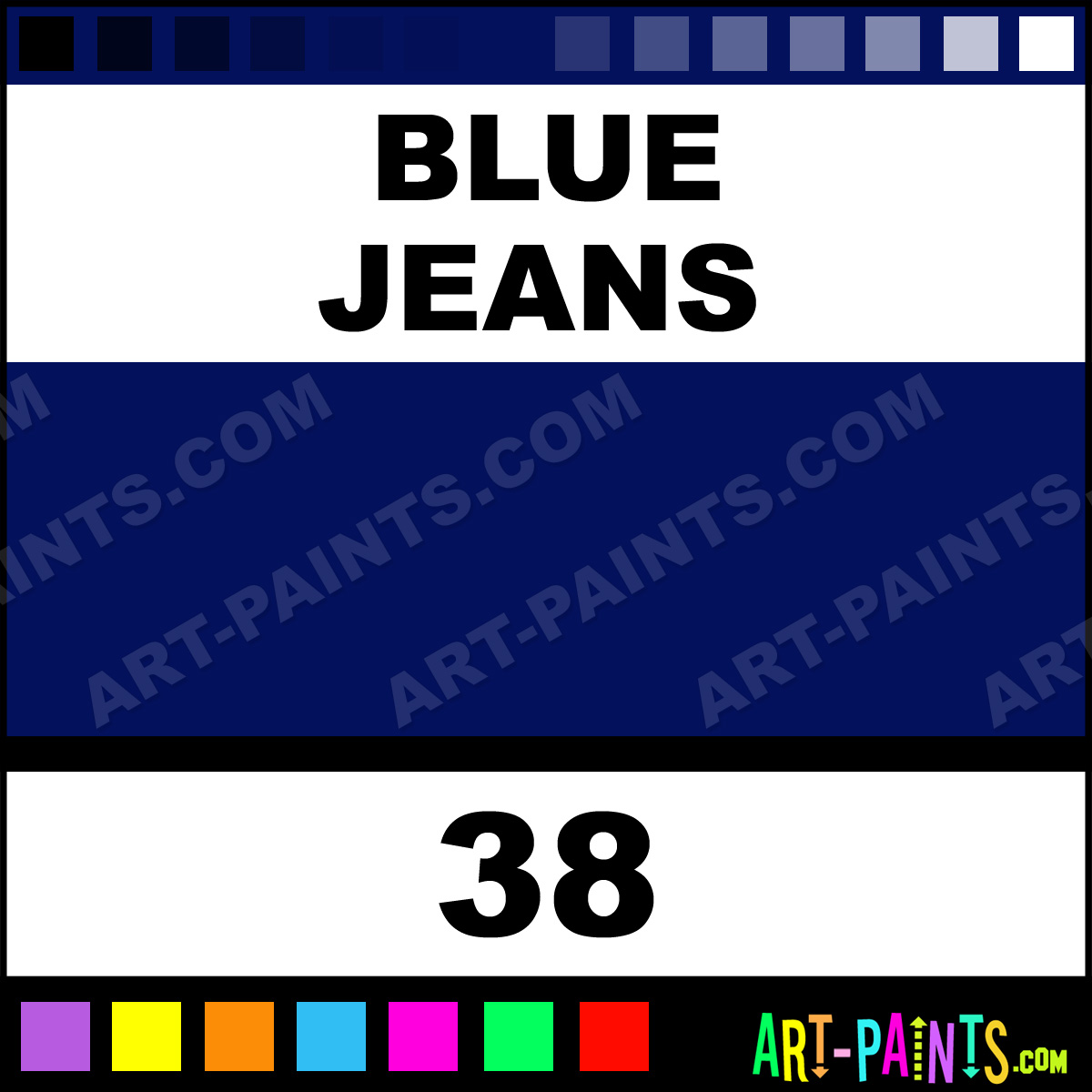 Blue jeans pigment tattoo ink paints 38 blue jeans for Blue jean paint color