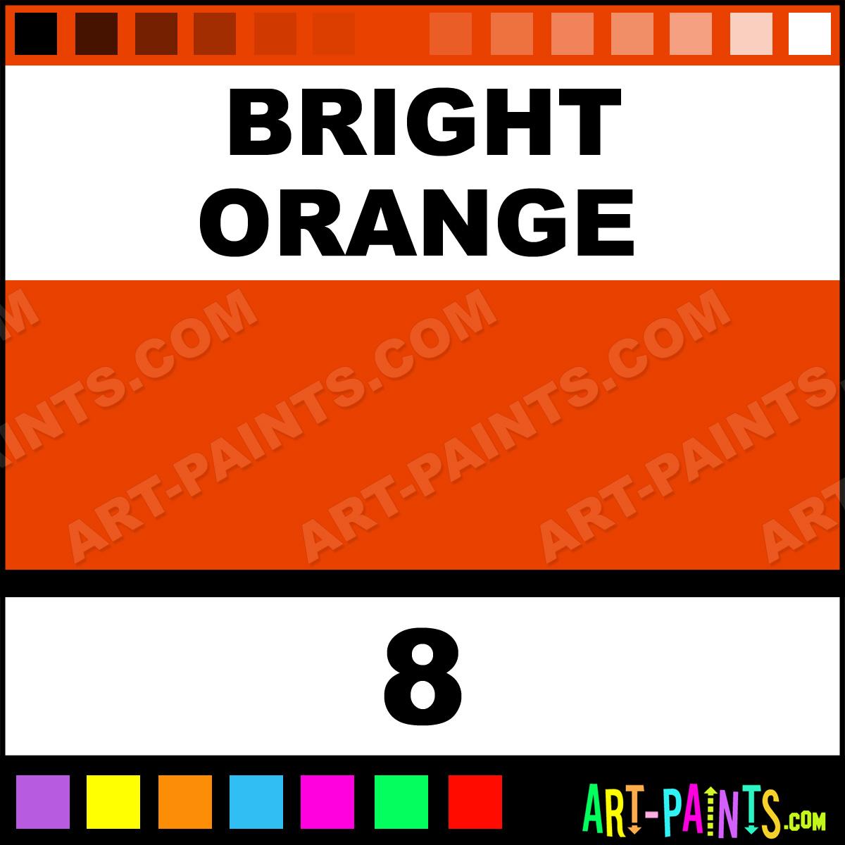 Bright Orange Bottle Tattoo Ink Paints 8 Bright Orange