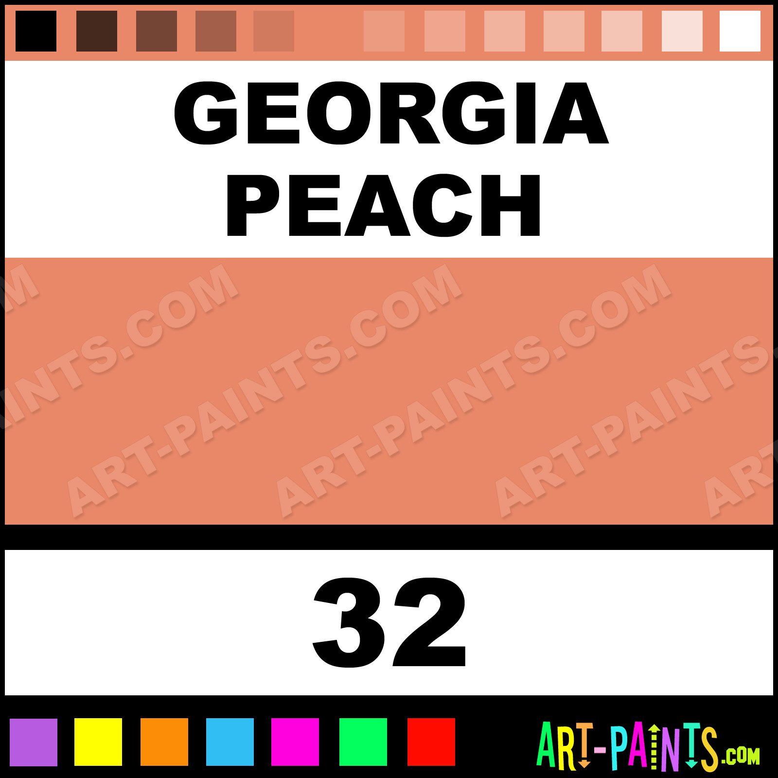 Georgia Peach Bottle Tattoo Ink Paints 32 Georgia Peach Paint
