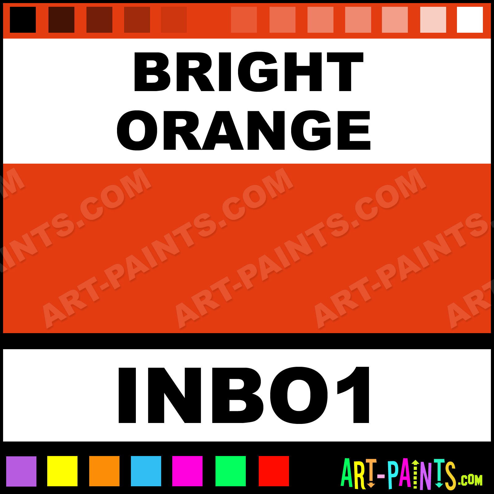 Bright Orange Paint