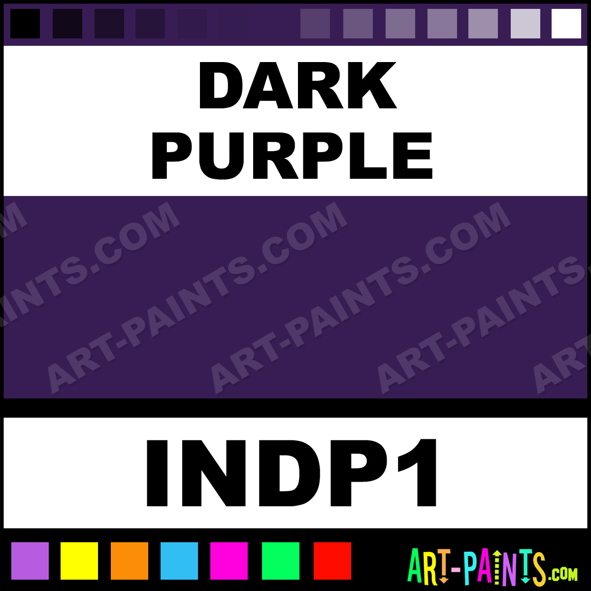 Dark purple colors tattoo ink paints indp1 dark purple - What colors make purple paint ...