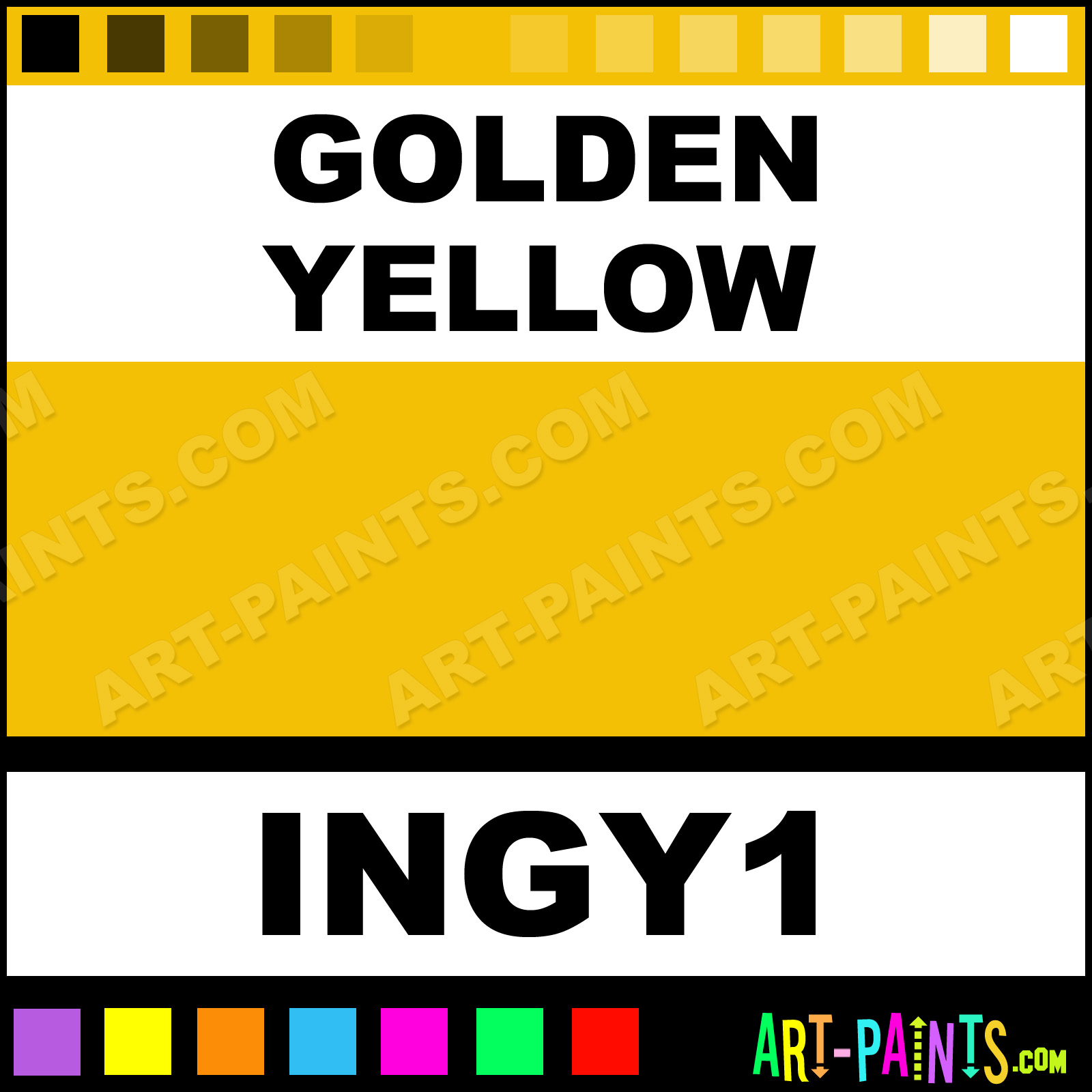 Golden yellow colors tattoo ink paints ingy1 golden for Golden yellow paint colors