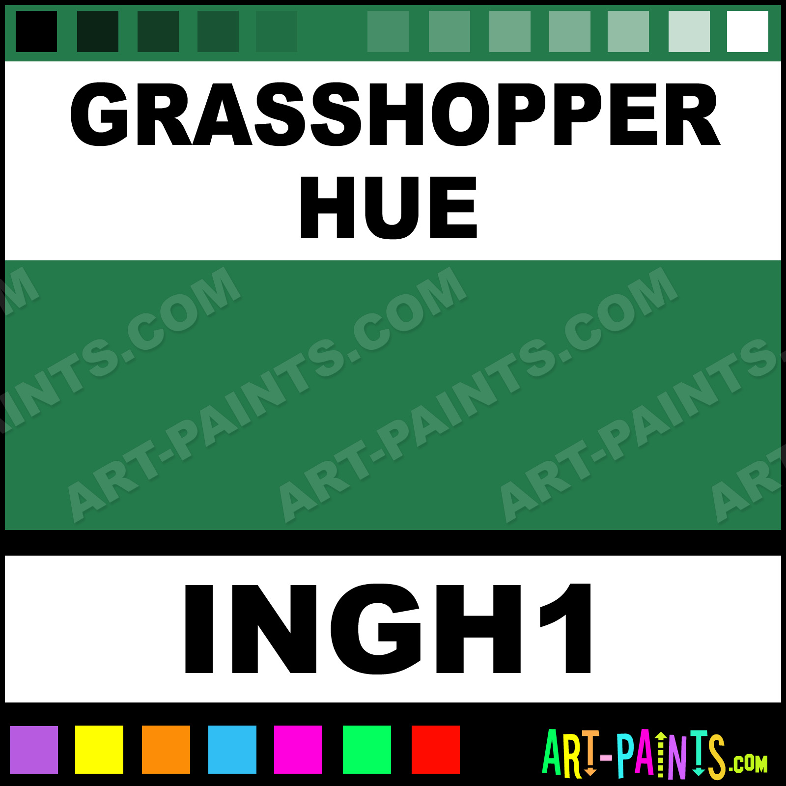 Grasshopper colors tattoo ink paints ingh1 grasshopper for Grasshopper tattoo supply