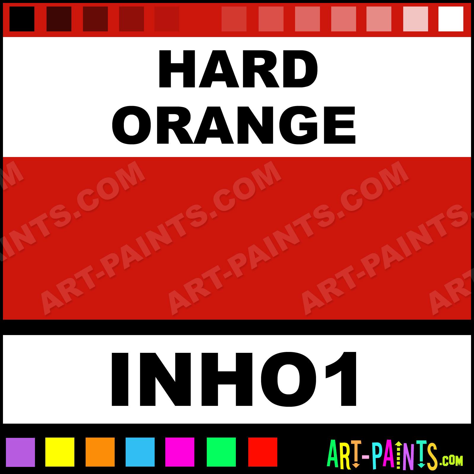 Hard orange colors tattoo ink paints inho1 hard orange for Grasshopper tattoo supply