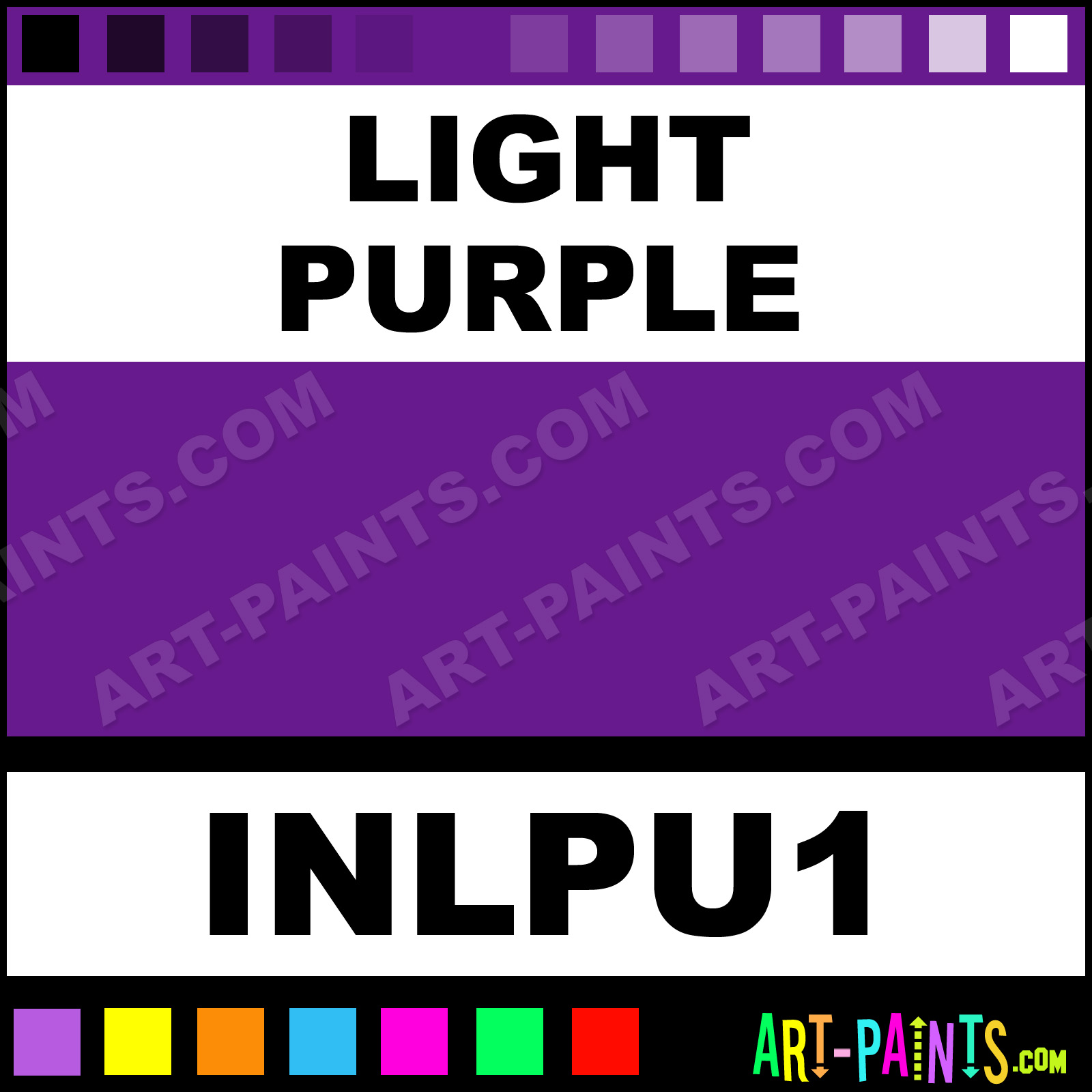 Light purple colors tattoo ink paints inlpu1 light - What colors make purple paint ...