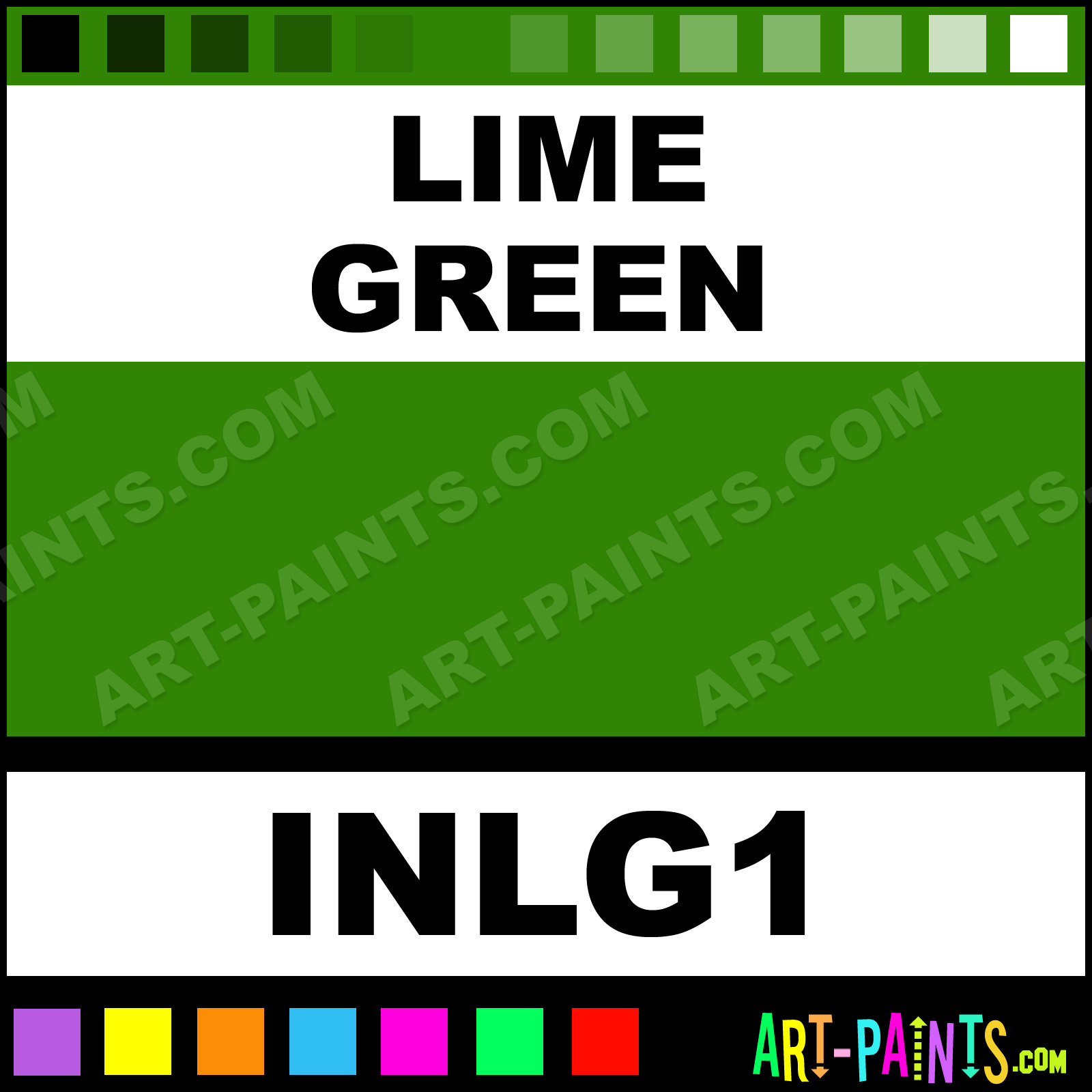 Lime green colors tattoo ink paints inlg1 lime green - Color schemes with lime green ...