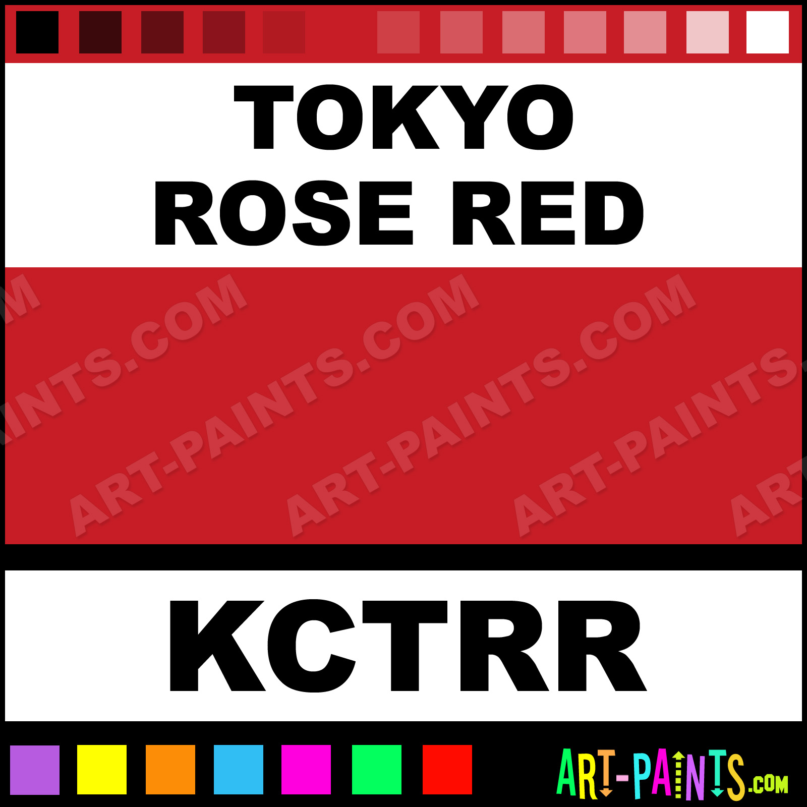 Tokyo Rose Red Paint