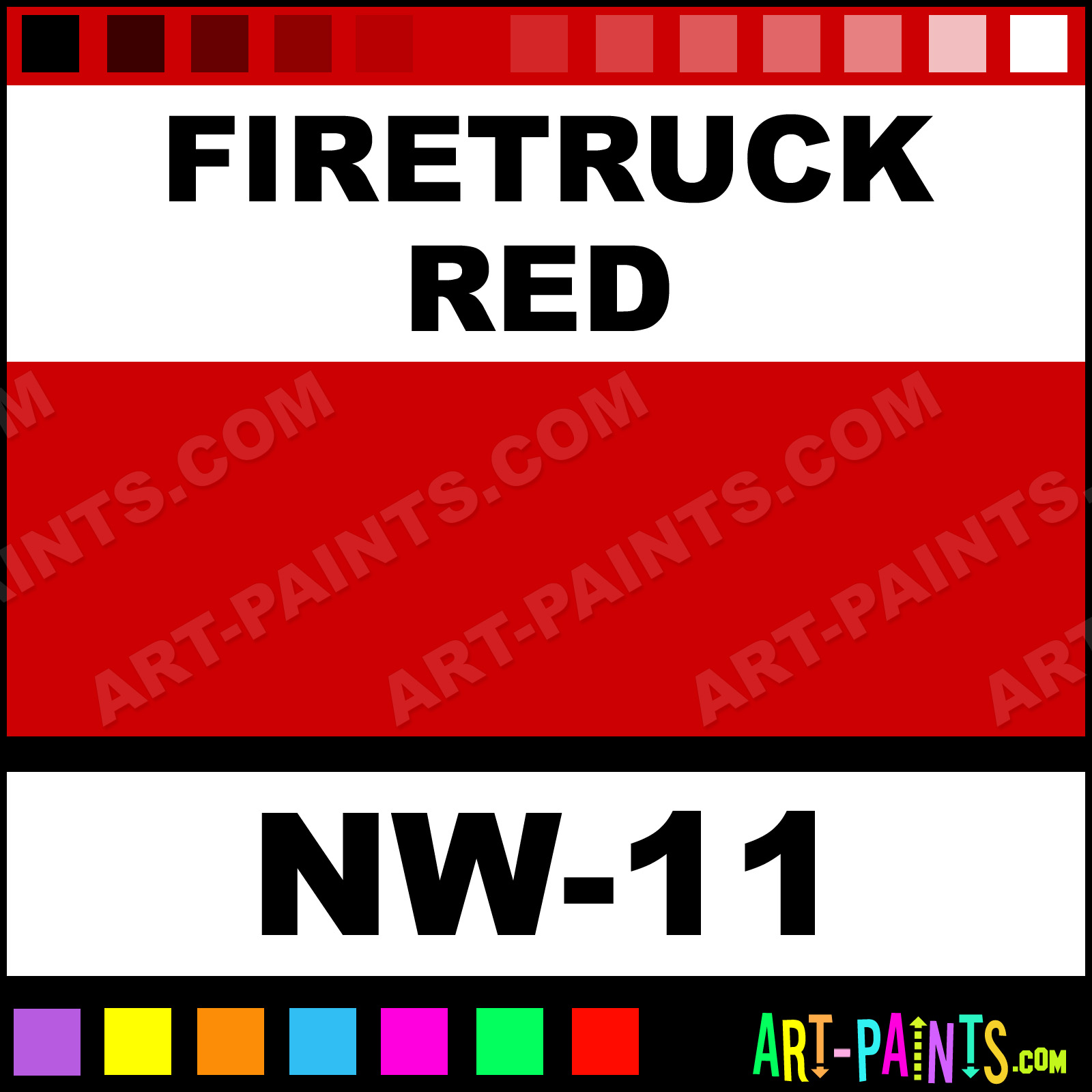 New World Paints Firetruck Red Pigments Tattoo