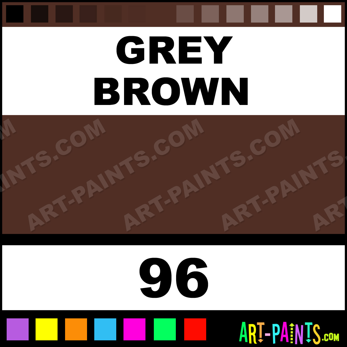 Grey Brown Cosmetic Ink Tattoo Ink Paints 96 Grey Brown Paint Grey Brown Color Precision
