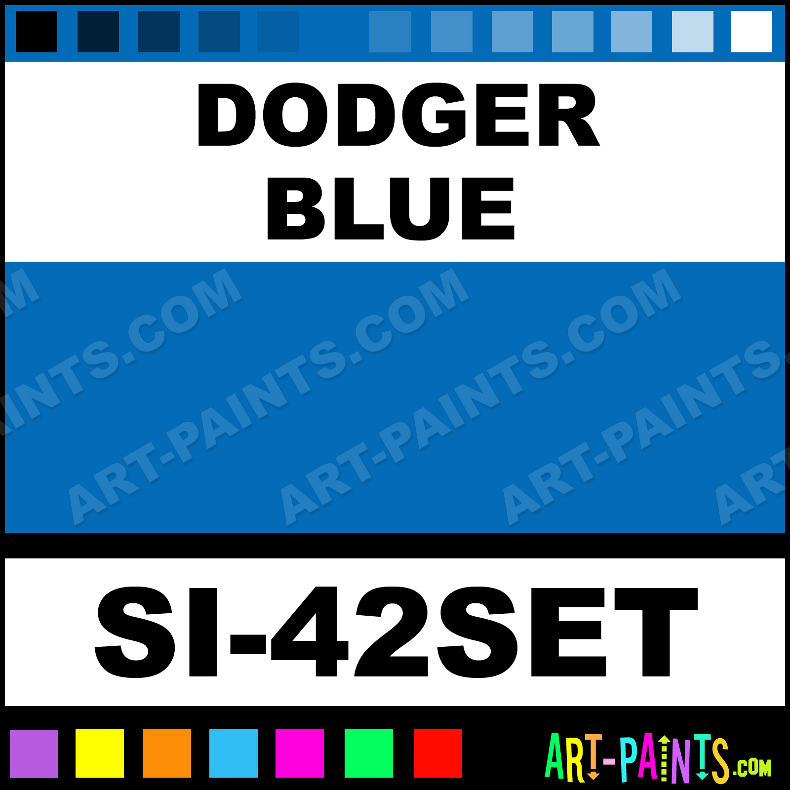 Dodger Blue Paint