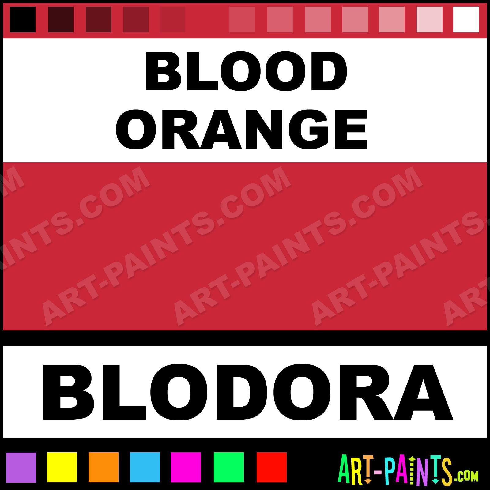 Blood Orange Paint