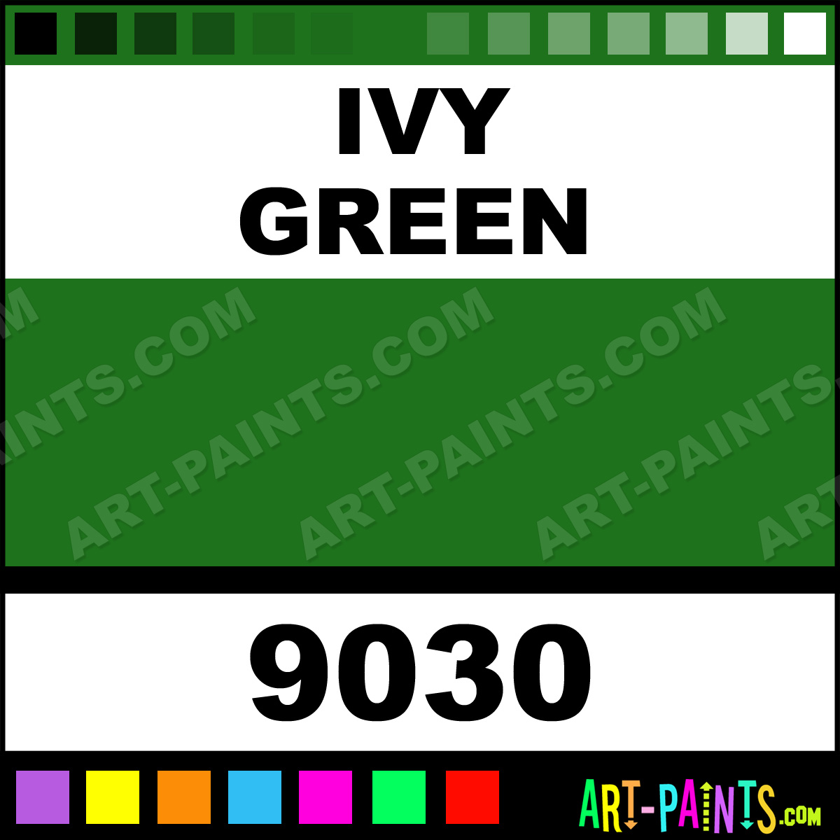 Ivy Green Paint 9030 By Spaulding Tattoo Colors Paints