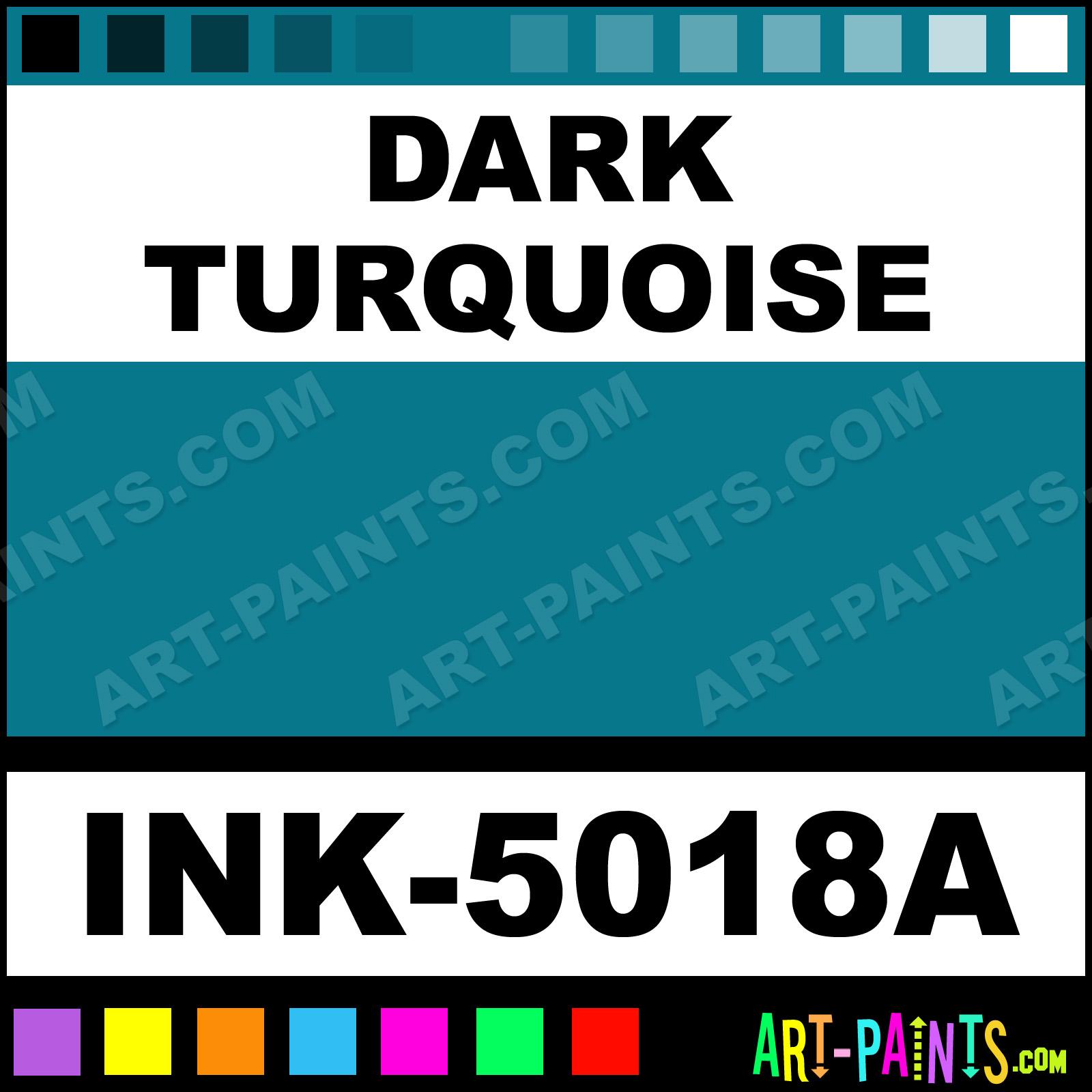Dark Turquoise Ink Tattoo Paints