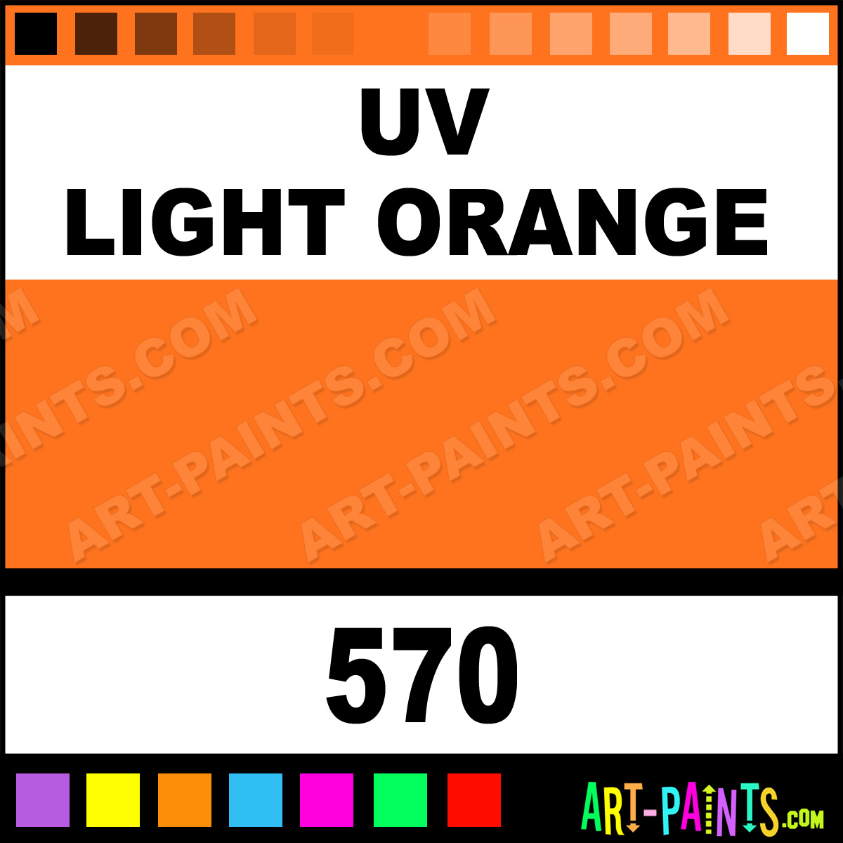Uv Light Orange Paint