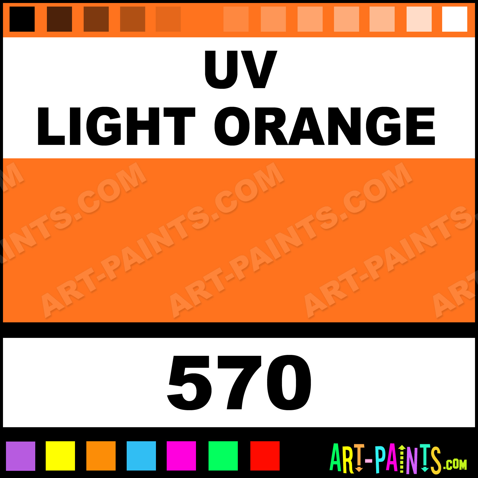 Uv Light Orange Colors Tattoo Ink Paints 570 Uv Light