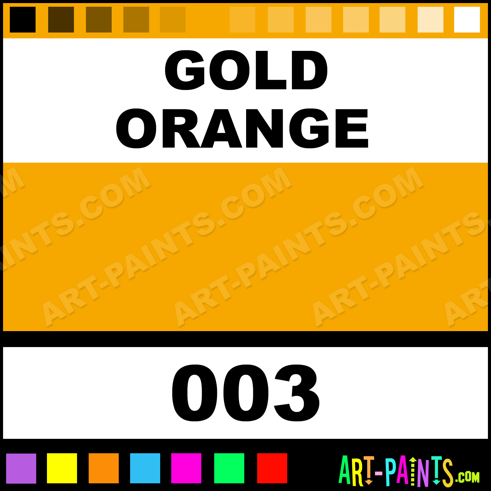 how to make golden orange color
