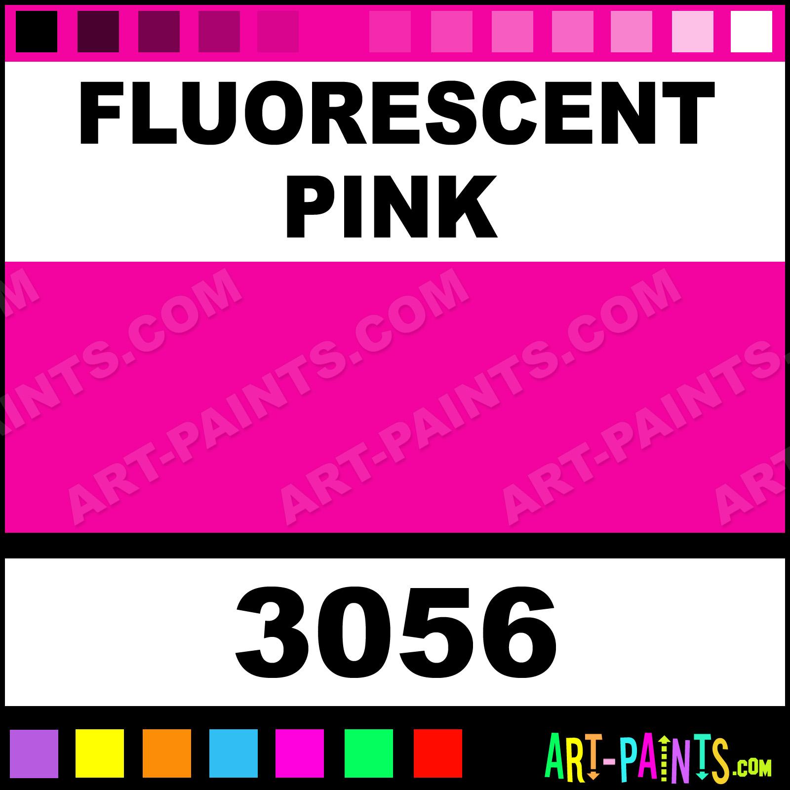 Jazz Gloss Paints Fluorescent Pink Colors Tempera