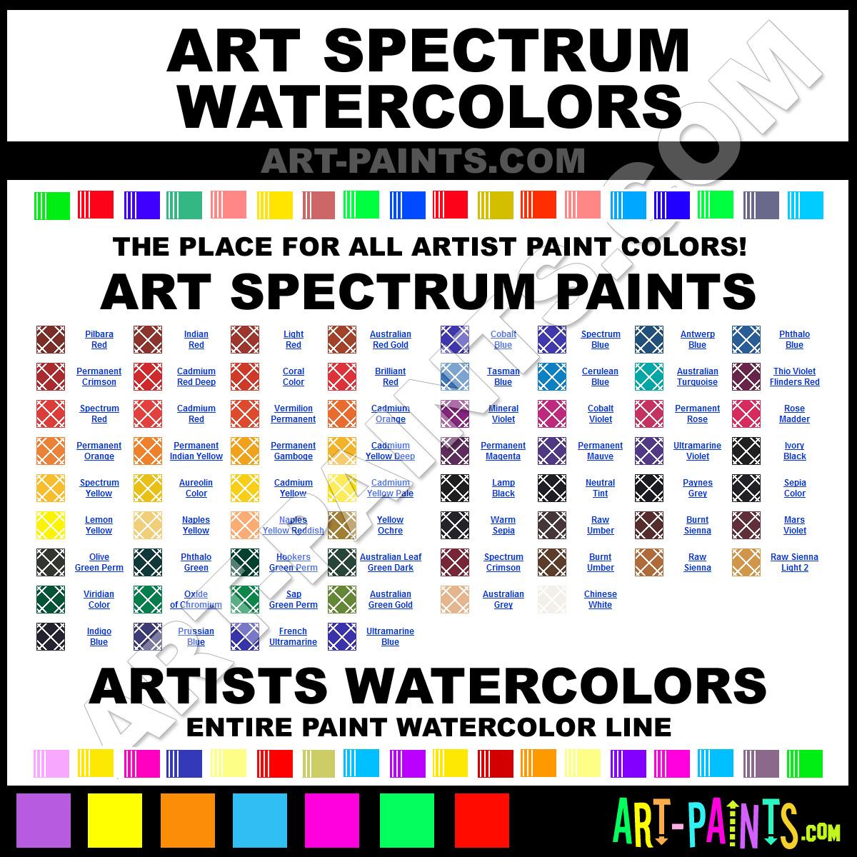 Indigo blue artists watercolor paints s1 astm ii for Paint color spectrum