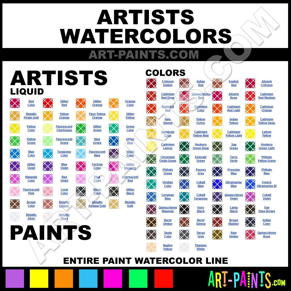 Paint Colors And Brands: Artists Watercolor Paint Brands