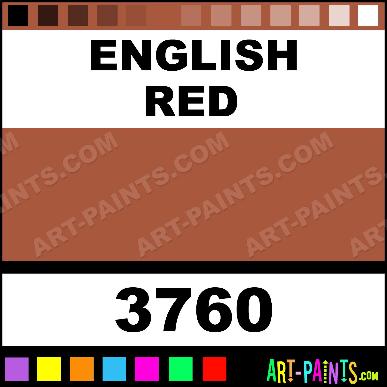 Artists Colors Paints English Red Watercolor