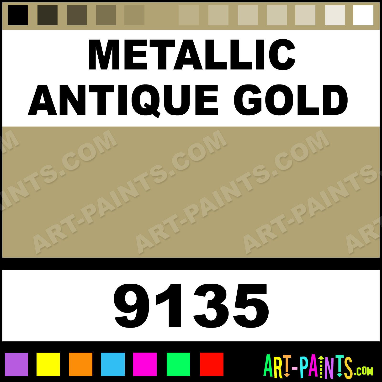 Gold Paint For Metal Metallic Antique Gold
