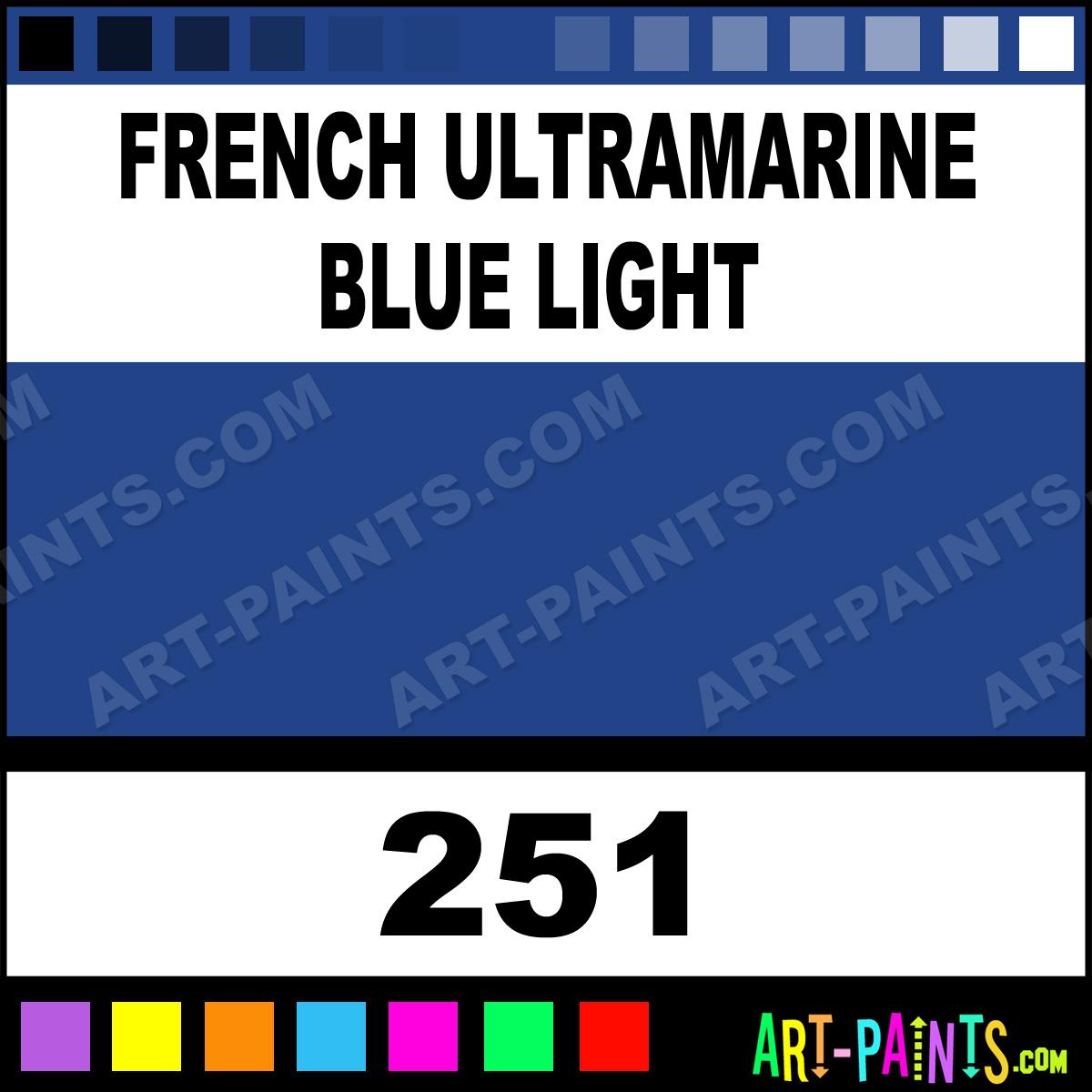 French Ultramarine Blue Light Aquarelle Watercolor Paints