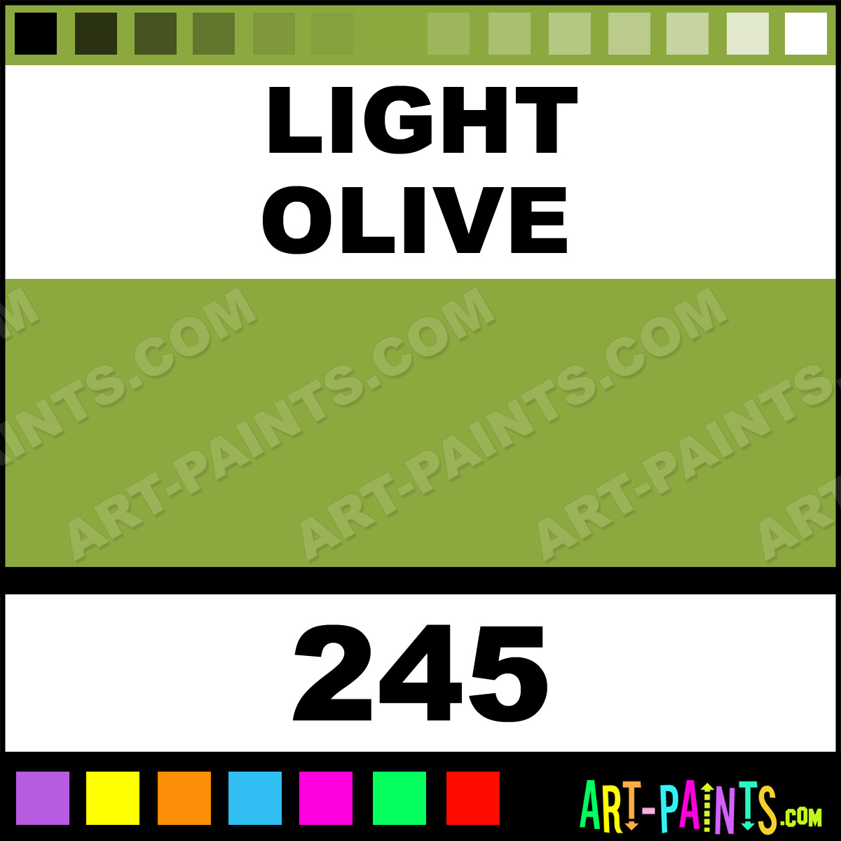 Light Olive Museum Watercolor Paints 245 Light Olive