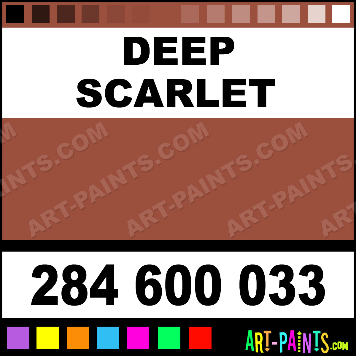 Deep Scarlet Extra Fine Watercolor Paints 284 600 033