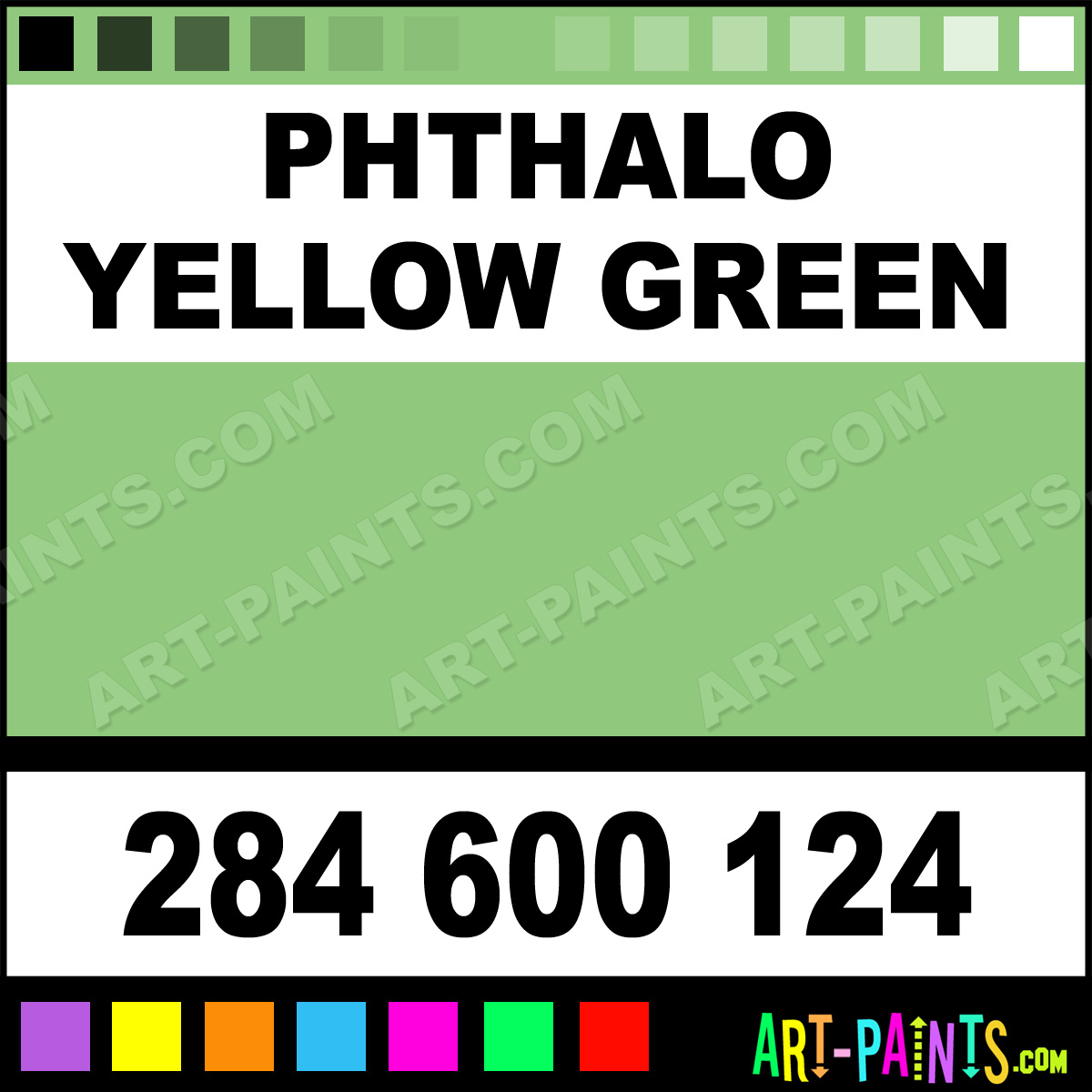 Phthalo Yellow Green Extra Fine Watercolor Paints 284