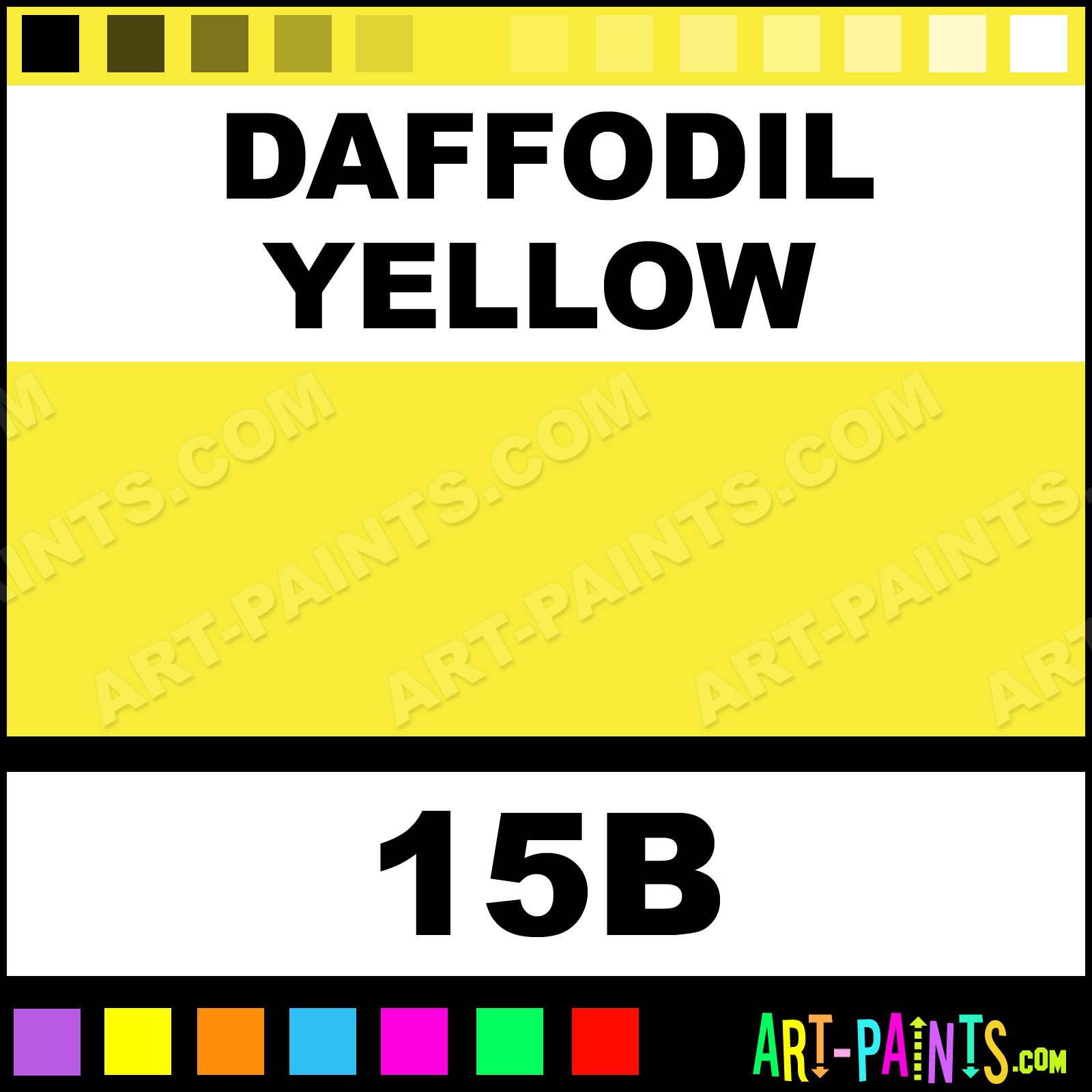 daffodil yellow radiant watercolor paints - 15b - daffodil yellow
