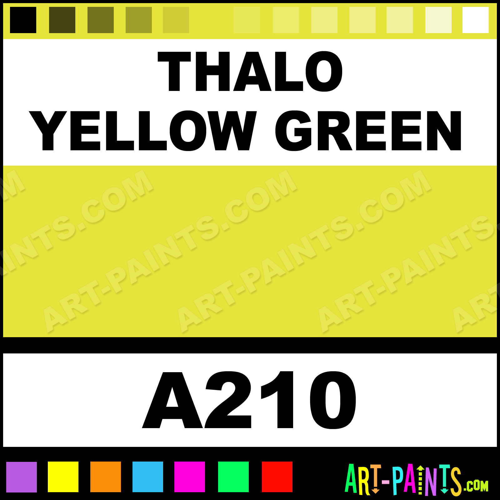 thalo yellow green academy watercolor paints - a210 - thalo yellow
