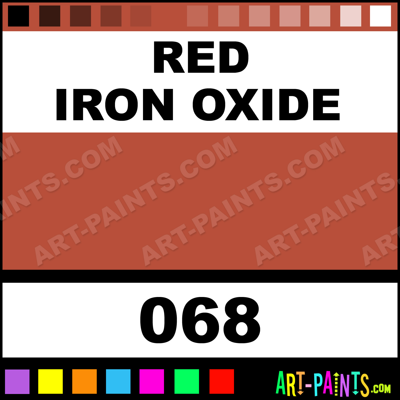 Red Iron Oxide Paint Color